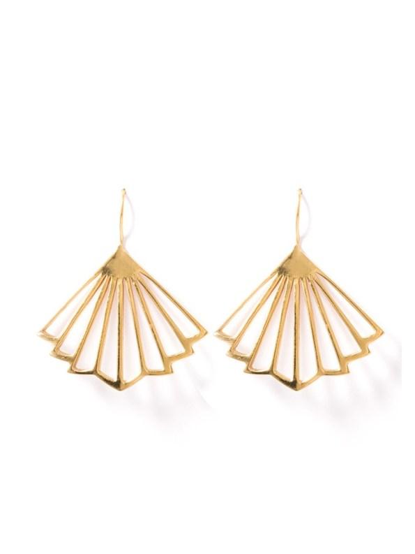 Kirsten Goss Kenzo Earrings Gold