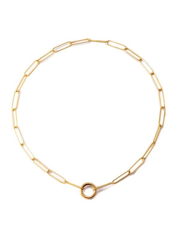 Kirsten Goss Lifesaver Rocket 45 Necklace Gold Vermeil