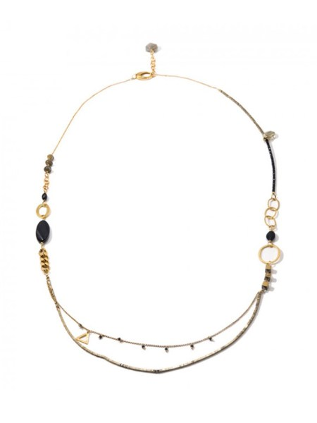 Kirsten Goss black and gold Necklace