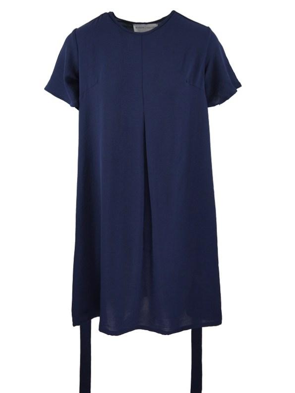 Mareth Colleen April4Mom Dress Navy Loose Belt
