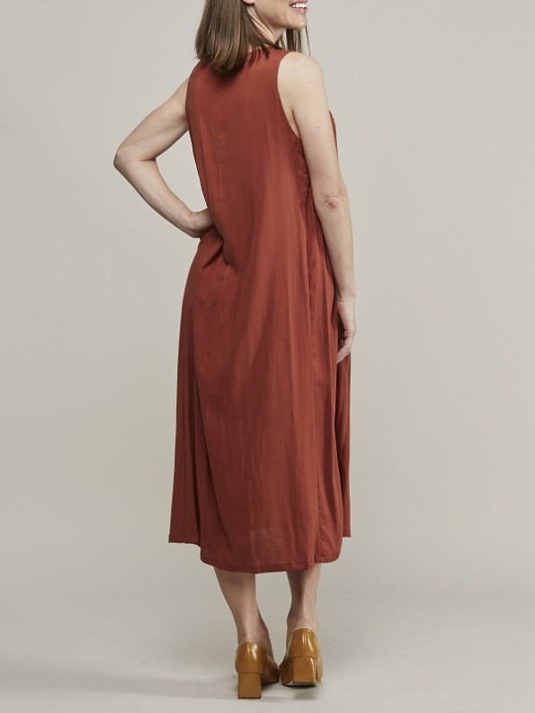 Mareth Colleen Camille4Mom Dress Rust Back