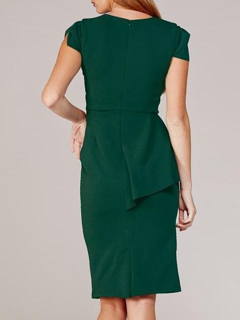 Mareth Colleen Lock Dress Green Back