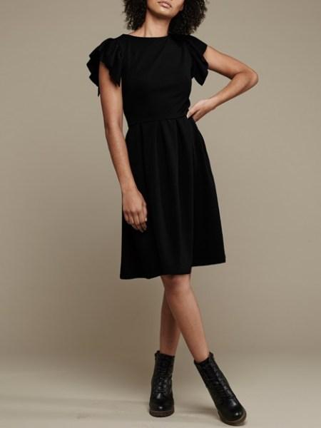Mareth Colleen Tam Dress Black Front