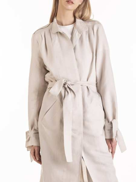 Camel Trench Coat with belt