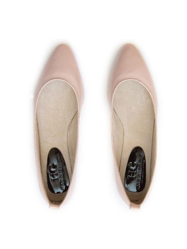House Of Cinnamon Fama Pointed Flat Pink Pair