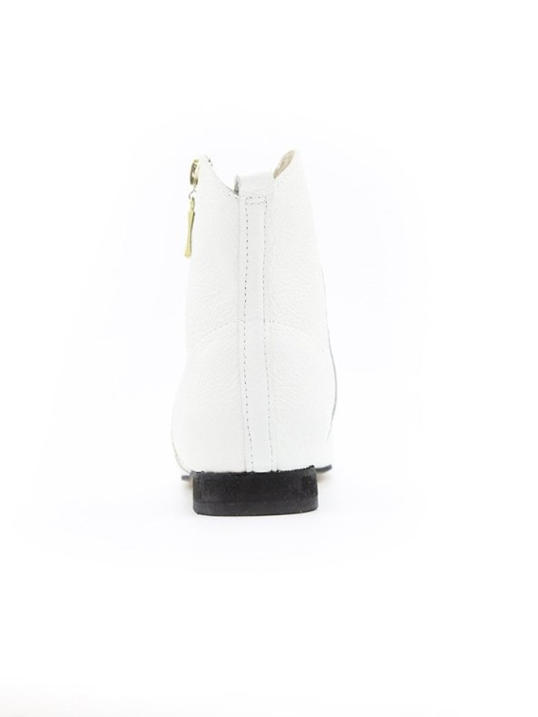 House of Cinnamon Cowboy Ankle Boot White Back