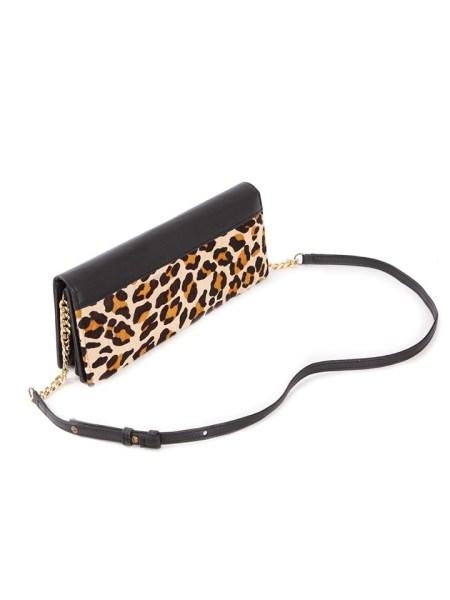Leopard print cross body bag