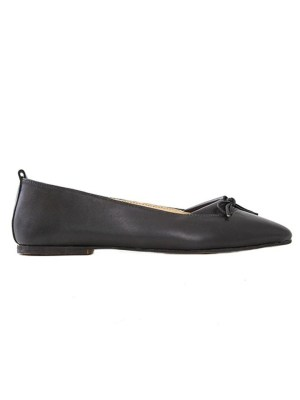 House of Cinnamon Monica Pointed Flat Black Side