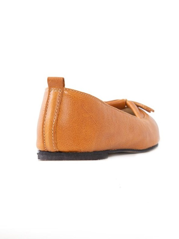 House of Cinnamon Monica Pointed Flat Tan Back