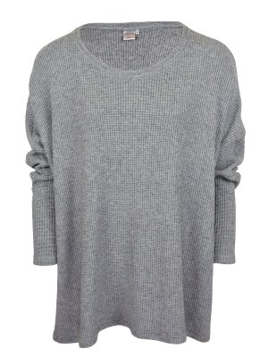 JMVB Goodall Boxy Knit Sweater Grey