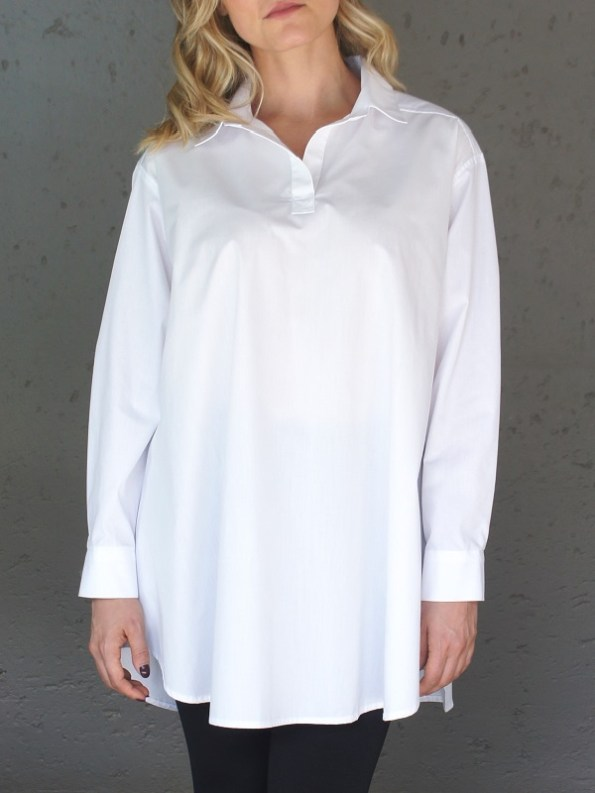 JMVB Rowling Oversized Shirt White Cropped