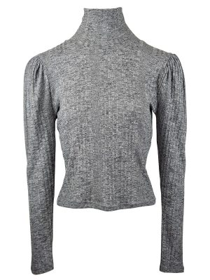 JMVB Sioux Funnel Knit Top Grey