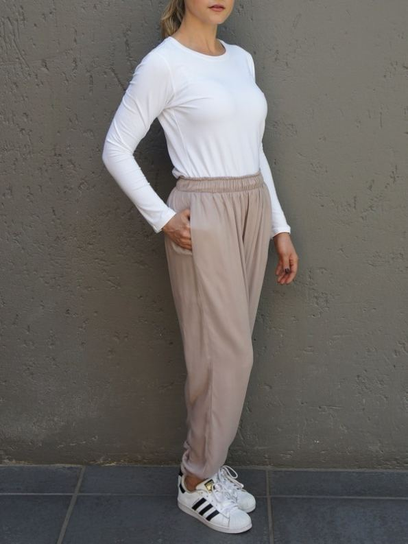 JMVB Sischy Joggers and Long Sleeve Tee White Side 2