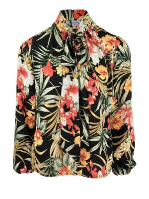 Buy Floral Pussy-bow Blouse