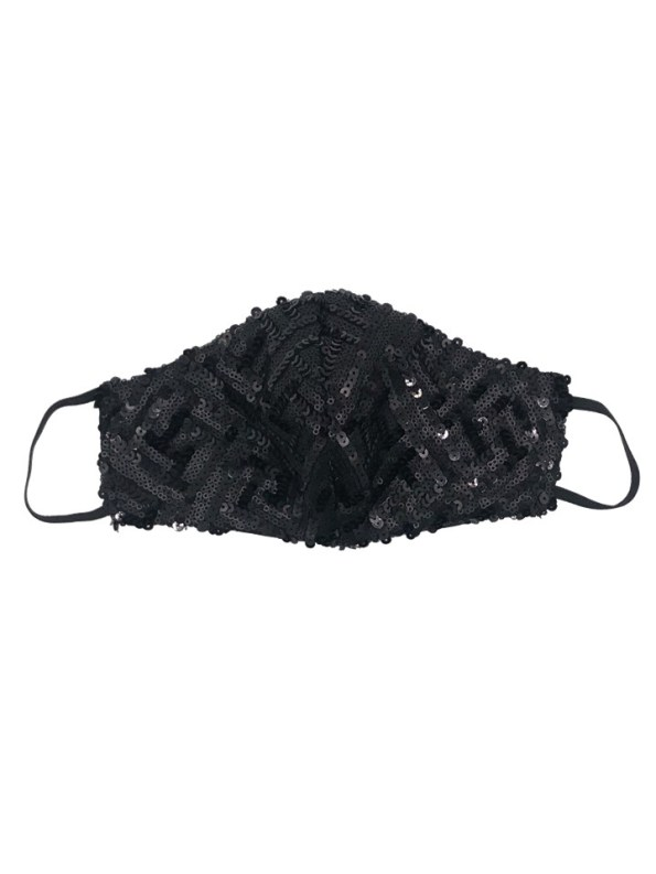 Equilibrio Glam Sequin Face Mask Black