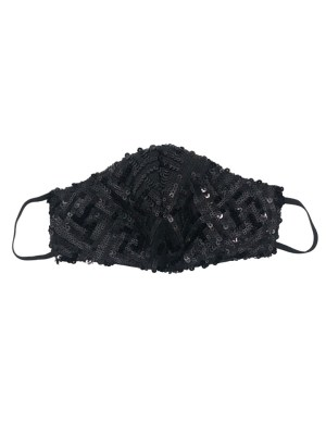 Black beaded sparkly sequins face mask South Africa