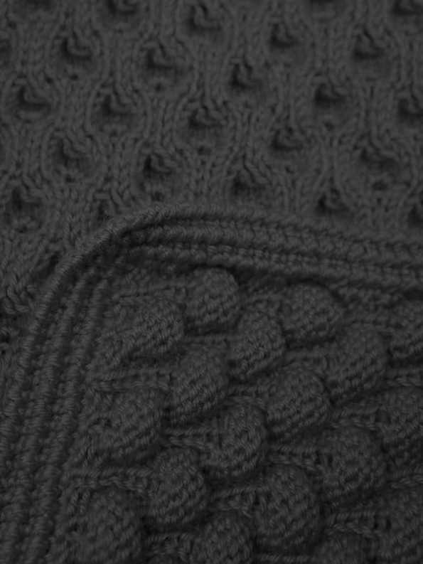 Erre Bubble Knit Scarf Black Closeup