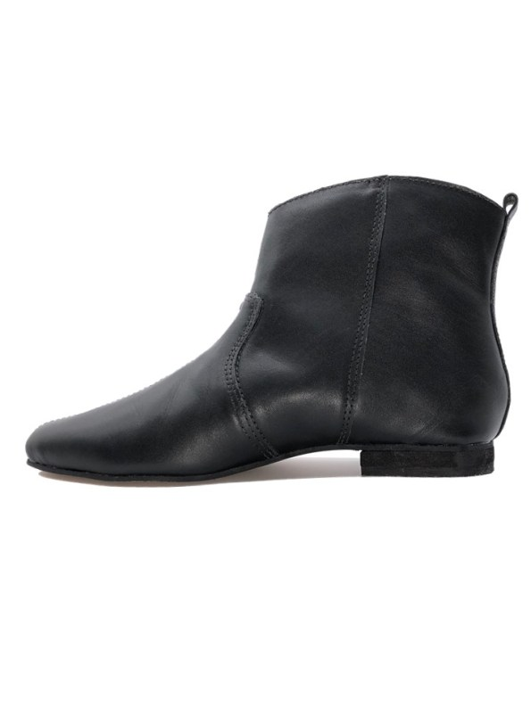 House of Cinnamon Charlotte Cowboy Boot Black Side