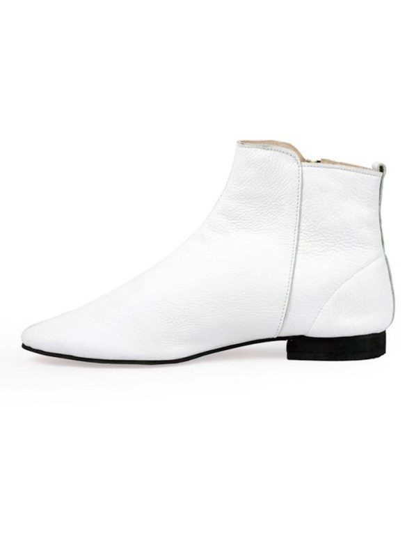 House of Cinnamon Suna Classic Ankle Boot White Reverse