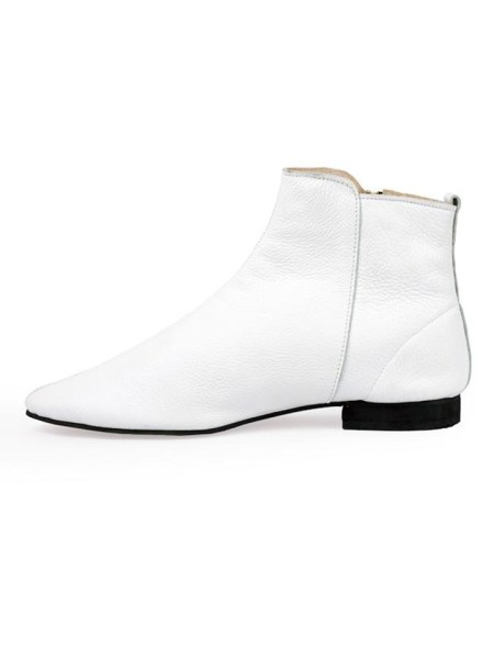 white ankle boots made in South Africa