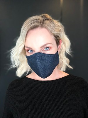 blue denim fabric face mask again COVID-19 South Africa