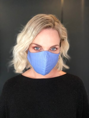 Blue Cotton Face Mask South Africa