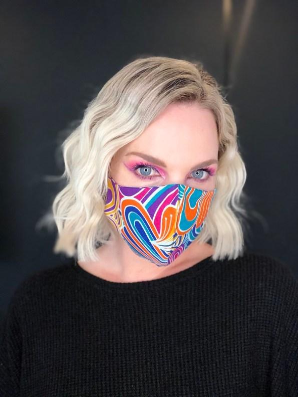 JMVB Face Mask Psychedelic Modeled