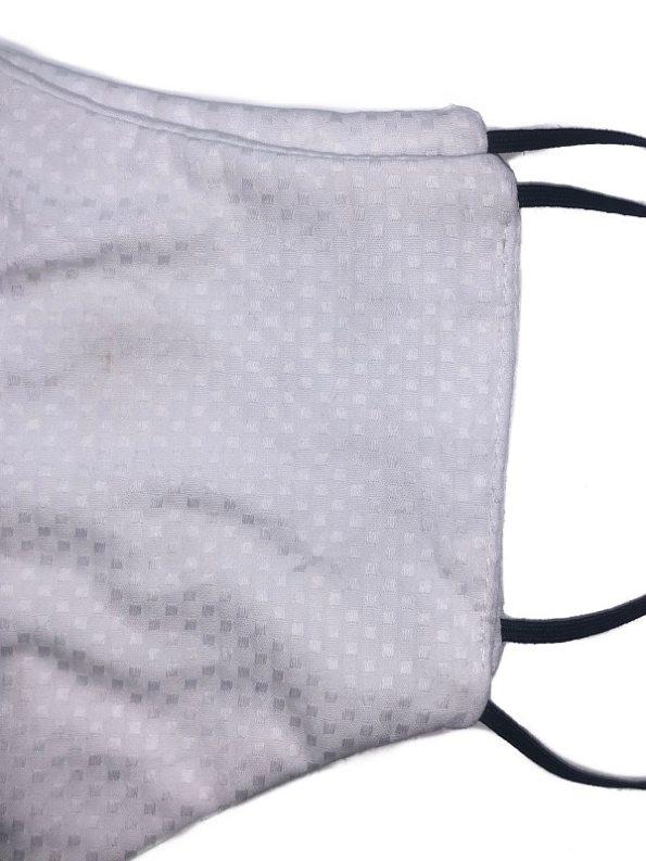 JMVB Face Mask White Oxford Close Up