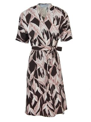 Mareth Colleen Bea Wrap Dress Autumn Linen Blend