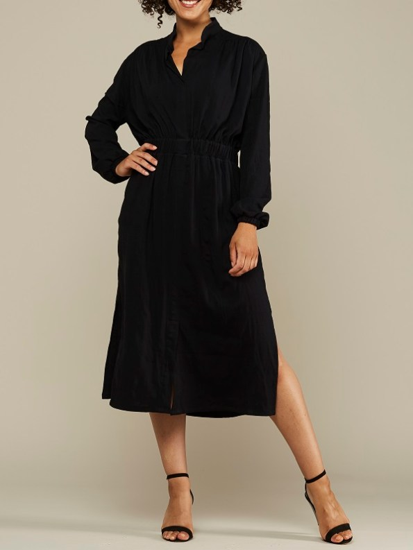 Mareth Colleen Isla Dress Black Front