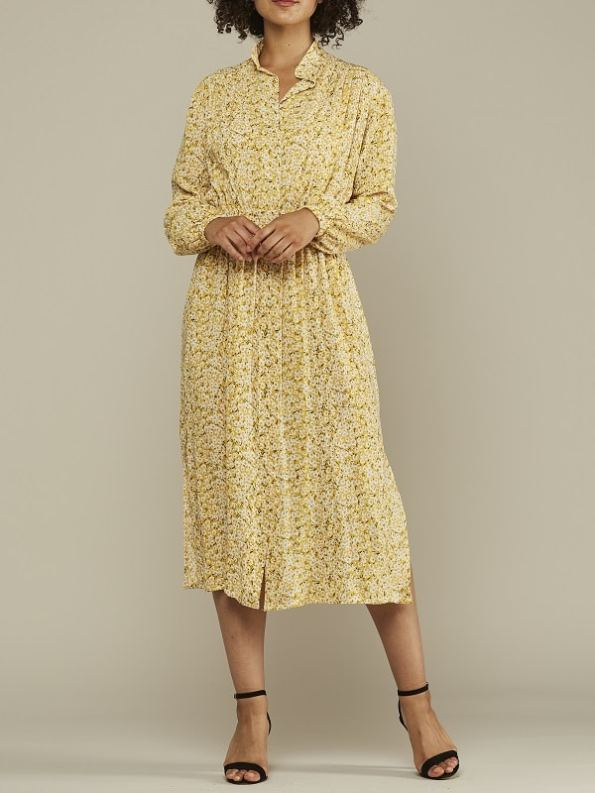 Mareth Colleen Isla Dress Yellow Floral Front