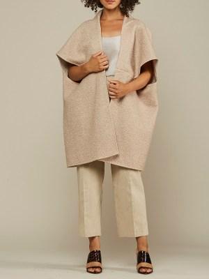 Beige Wool teddy coat made in South Africa