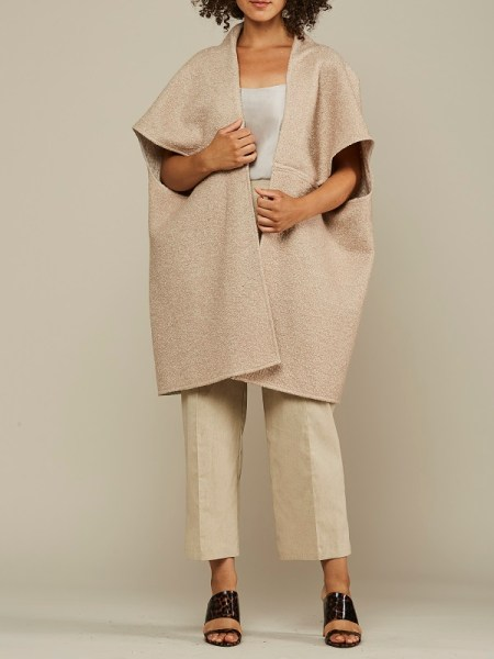 Beige Wool teddy coat made in South Africa