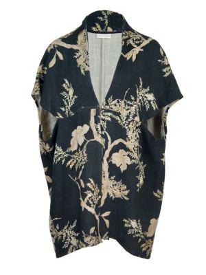 Navy Linen Kimono-style jacket South Africa