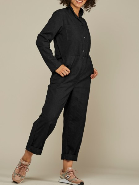 Mareth Colleen Long Sleeve Boilersuit Black Side