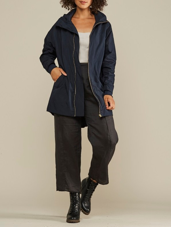 Mareth Colleen Parka Navy Front