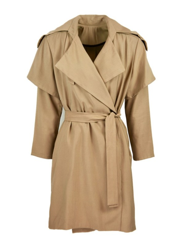 Mareth Colleen Trench Coat Camel