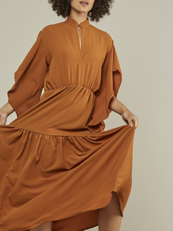 Mareth Colleen Tristan Maxi Dress Clay Cropped