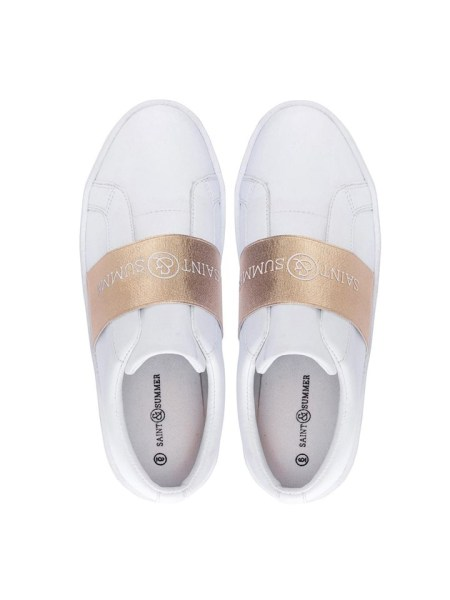 Branded White and gold Sneakers South Africa