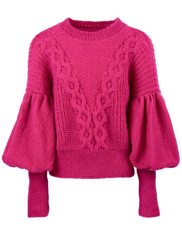 Erre Knitted Jersey Pink Mohair Blend