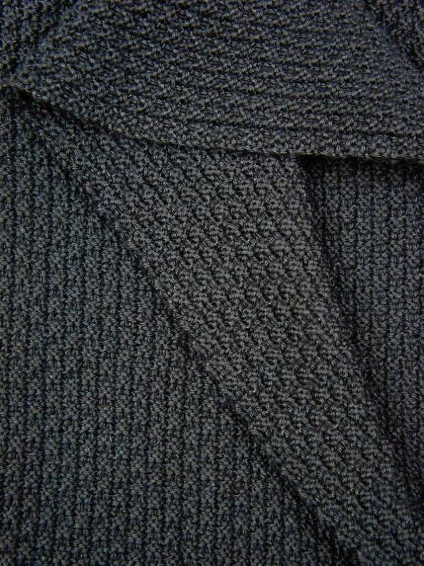Erre Knitted Wrap Black Mohair Closeup