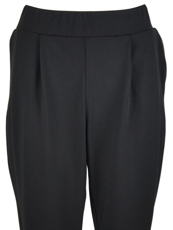 Erre Pleated Pants with Pockets Black Detail