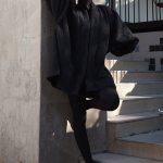 Erre Textured Swing Coat Black