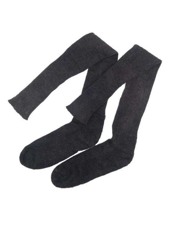 Erre thigh-high long socks charcoal mohair blend