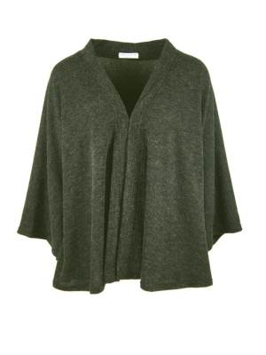 Green cape jacket made in South Africa from knitted fabric