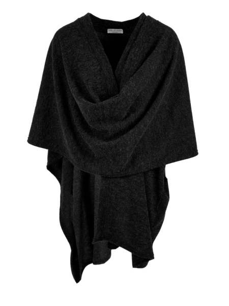 Black knitted wrap made in South Africa
