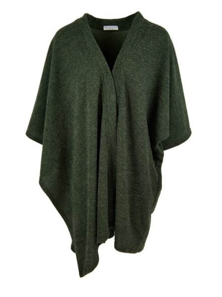 Green knitted wrap made in South Africa