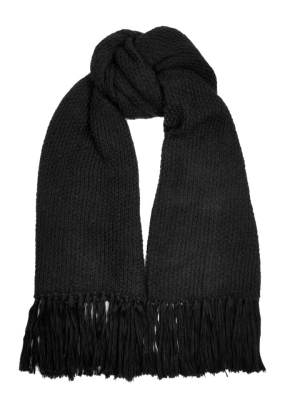 Oversized black mohair scarf made in South Africa