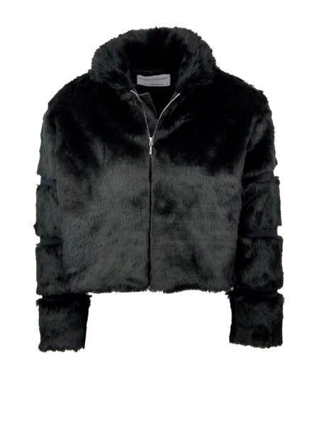 black faux fur jacket made in South Africa