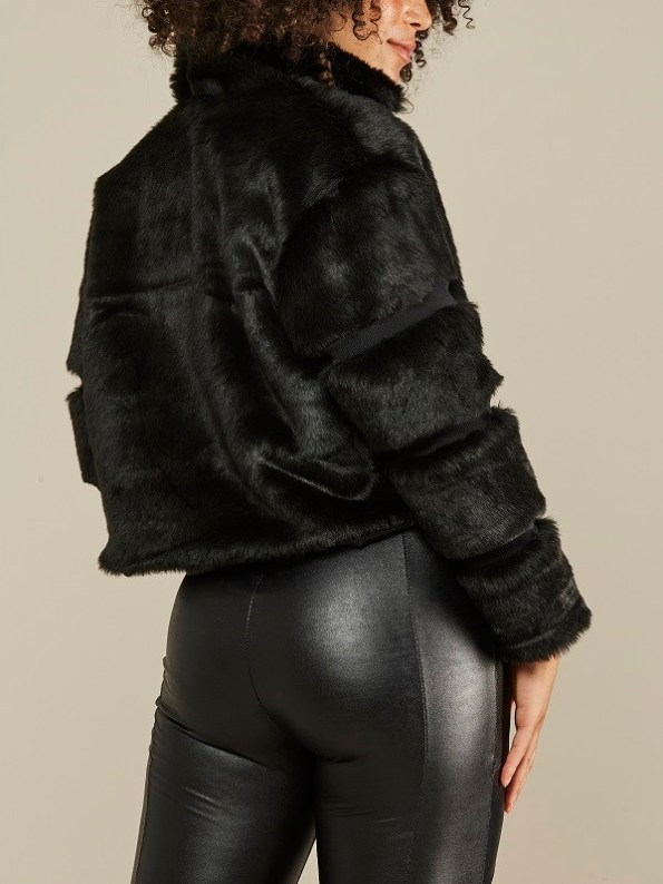 Mareth Colleen Faux Fur Moskow Jacket Black Back